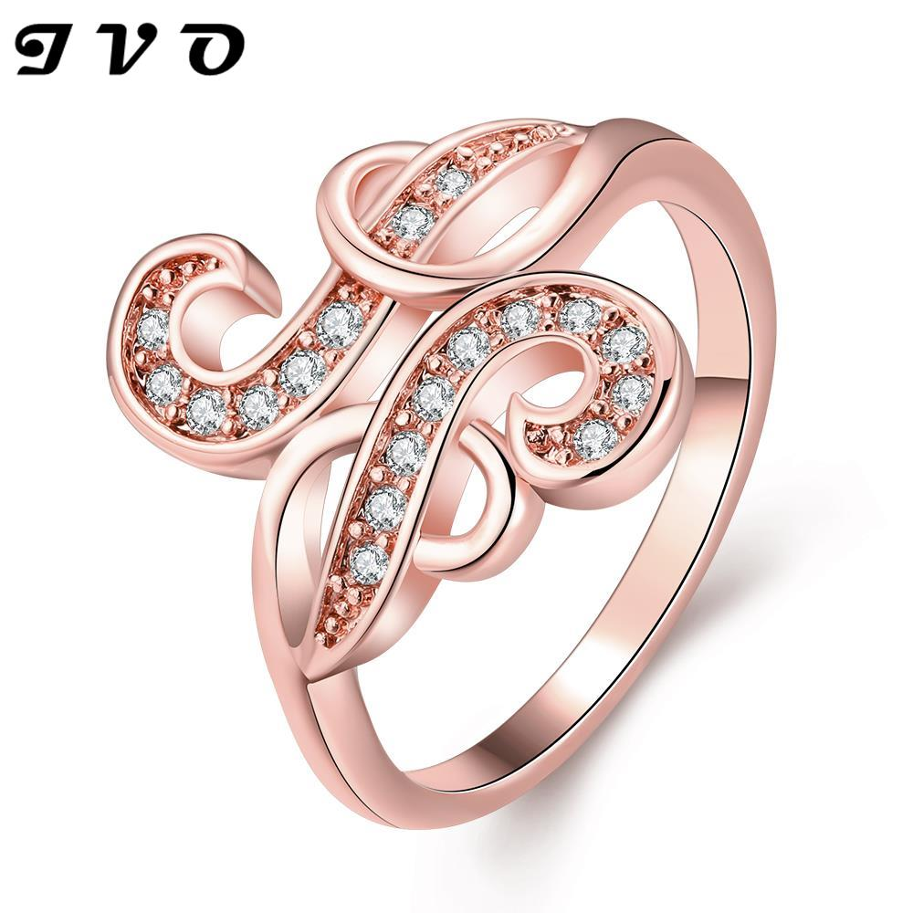 Wholesale New Rhinestone Finger Ring white/rose gold color rings for ...