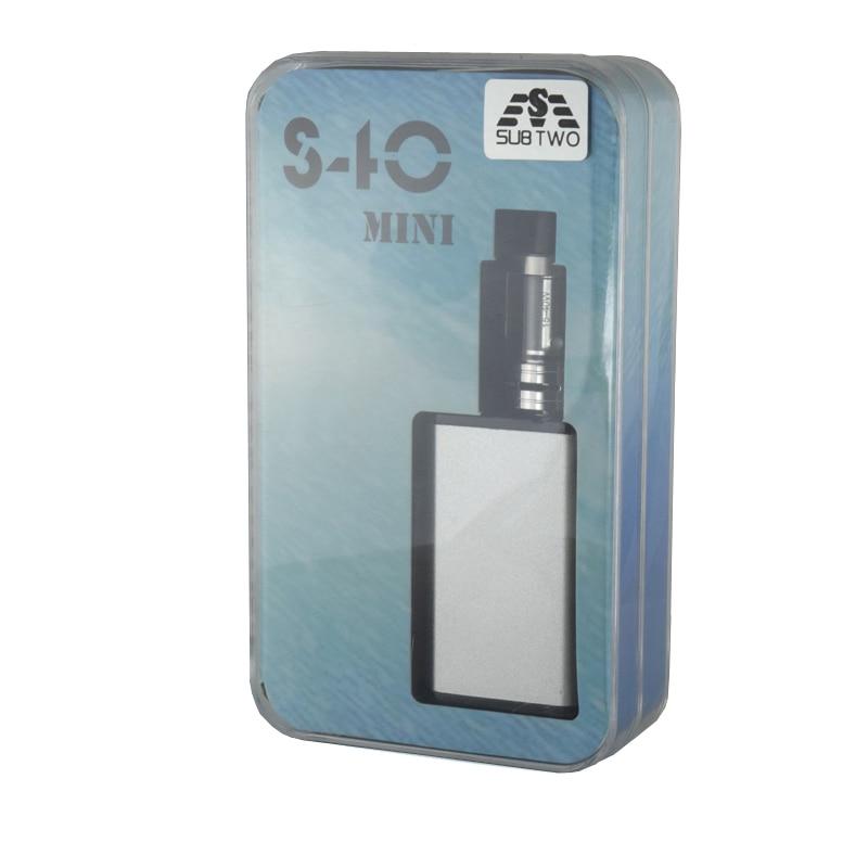 SUB TWO Electronic Cigarette S40 Mini Kit 40W Box Mod atomizer 2.0ml 0.5ohm tank 20w-40w Vaporizer 1600mah Battery vape