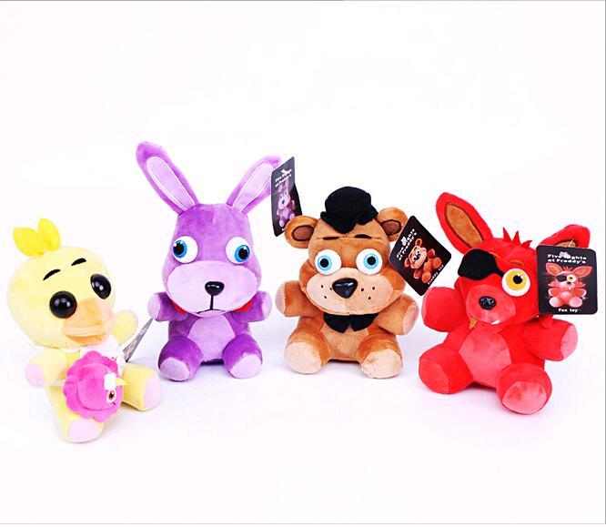 18cm 25cm Plush Toys Whloease In Stock Official Five Nights At Freddy's 4 FNAF Bonnie Foxy Freddy Fazbear Bear Plush Toys Doll