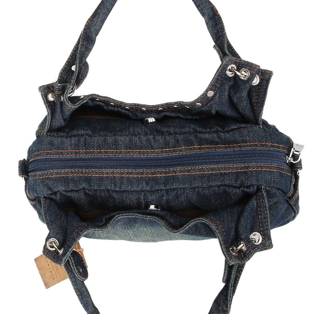 KISS KAREN Fashion Women Hobos Diamond Rivet Denim Bag Female Handbags  Jeans Women s Shoulder Bags Casual Tote Messenger Bags-in Shoulder Bags  from Luggage ... ef27d4f90a624