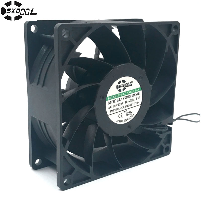 SXDOOL ec fan motor 92*92*38 mm 92mm 110V 115V 220V 230V 50/60 Hz 5W 3000RPM 68.5FM case cooling fan original ebmpapst 1120ntd tc 220 230v 16w 19w cooling fan