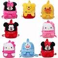 Moda Estilo Disney Brinquedos Para Crianças Dos Desenhos Animados Mochilas de Pelúcia Anime Mickey Minnie Doraemon de Pelúcia Mochilas Escolares Mochila Dj047