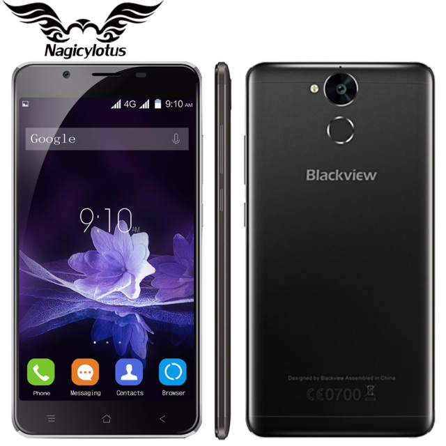 "Original blackview p2 teléfono móvil 5.5 ""MT6750T FHD Quad-Core 4 GB RAM 64 GB ROM 13MP 6000 mAh Batería Android 6.0 Smart phone"