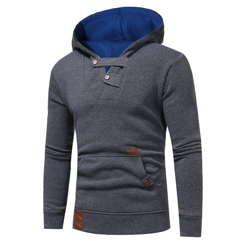 2018 Fashion Hoodies Men Sudaderas Hombre Hip Hop Mens Brand Solid hooded zipper Hoodie Cardigan Sweatshirt Slim Fit Men Hoody
