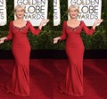 2016 72nd Golden Globe Helen Mirren Celebrity Dresses Scoop Long Sleeve Evening Dresses Beads Mermaid Luxury Women Dresses E85