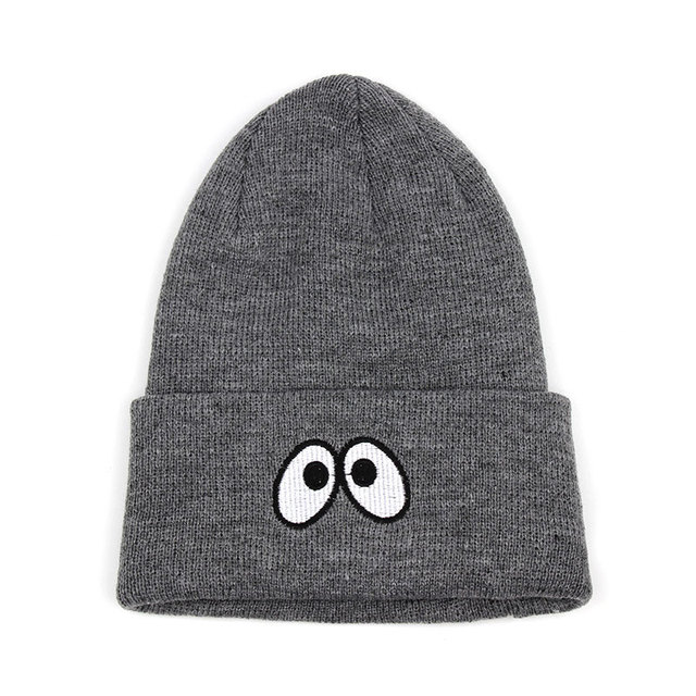 c9f14ae45d6 Gorros de Invierno Cool The Eyes Beanies for Women Mens Knit Winter Skully Hats  Toque Black