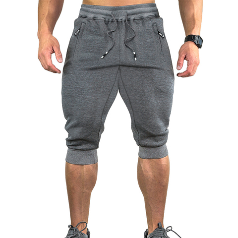 TACVASEN Sweatpants Sports Shorts For Men Gym Shorts With Pockets Sports Trousers Male Training Exercise Shorts Sportswear Islamabad