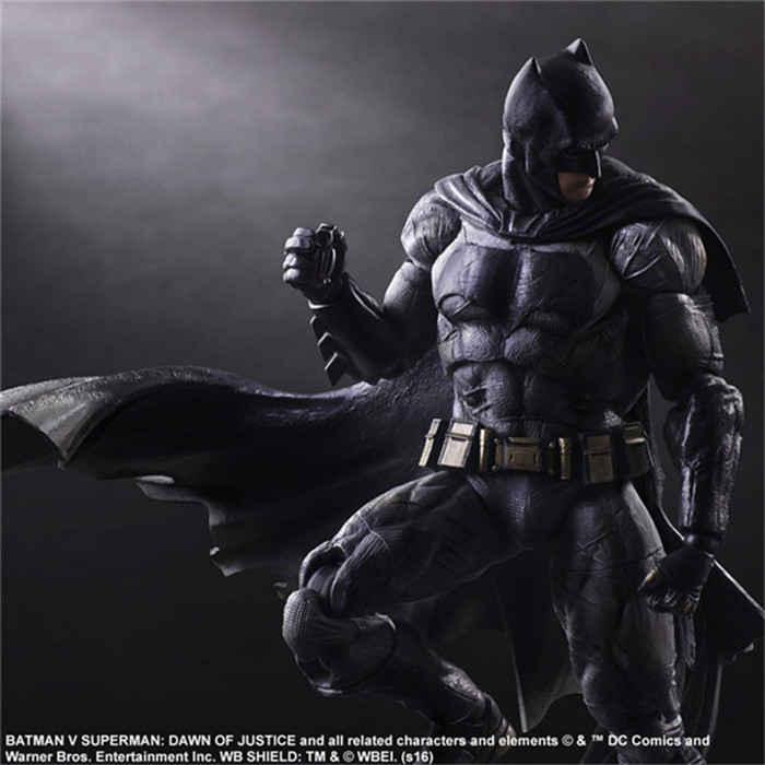Batman Action Figures Play Arts Kai Dawn of Justice PVC Toys 270mm Anime Movie Model Heavily armored Bat Man Playarts Kai GS0167-in Action & Toy Figures from Toys & Hobbies    3