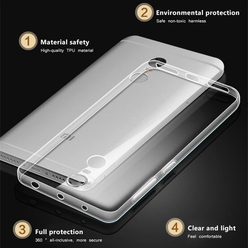 For Xiaomi Mi 8 Mi A1 Mi8 SE Mi 6 5X Mi 5S Transparent Soft TPU Case on For  Xiaomi Redmi 4X 4A 5A redmi 5 & 5 Plus Slim Bag Case