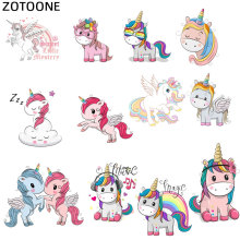 ZOTOONE Cute Animal Patches Set Iron on Transfer Unicorn for Girl Kids Clothing Printed DIY Heat Vinyl Stickers