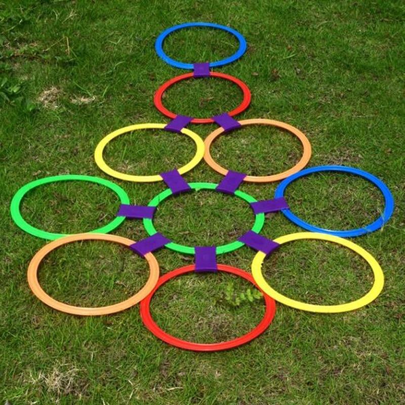 Preschool Teaching Aid Sport Toy Hopscotch Jump to the Grid Children Sensory Integration Training Outdoor Toys