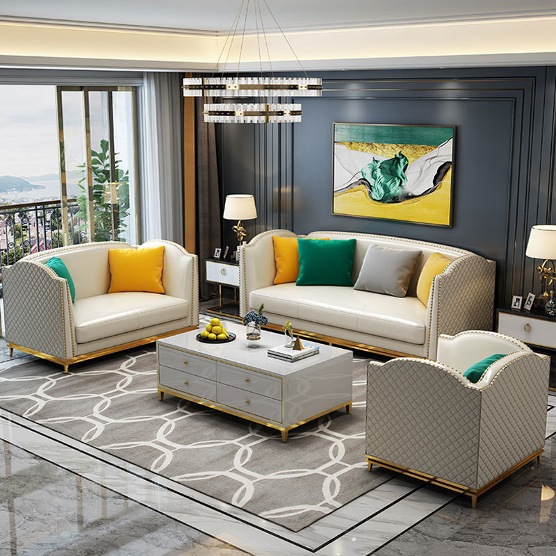 פוסט מודרני נירוסטה אור יוקרה ספת פינת סינטטי עור ספה-בספות לסלון מתוך ריהוט באתר procare Official Store