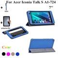 Шелк принт обсуждение S планшет крышка чехол для Acer Iconia обсуждение S A1-724 7 '' стойка кожа крышка чехол + экран защитные