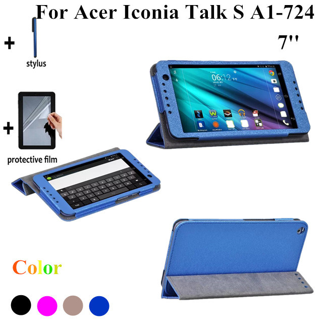 2015 NEW Silk Print Talk S Tablet Cover Case For Acer Iconia Talk S A1-724 7'' Stand Leather Cover Case +screen Protectors bigbang seungri 2nd mini album let s talk about love random cover booklet release date 2013 08 21 kpop