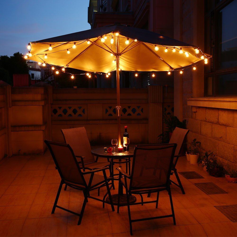 Us 13 94 23 Off 3m 7 5m G40 Globe Bulb String Lights With Clear Ball Bulbs Indoor Outdoor Hanging Umbrella Patio Waterproof In Holiday