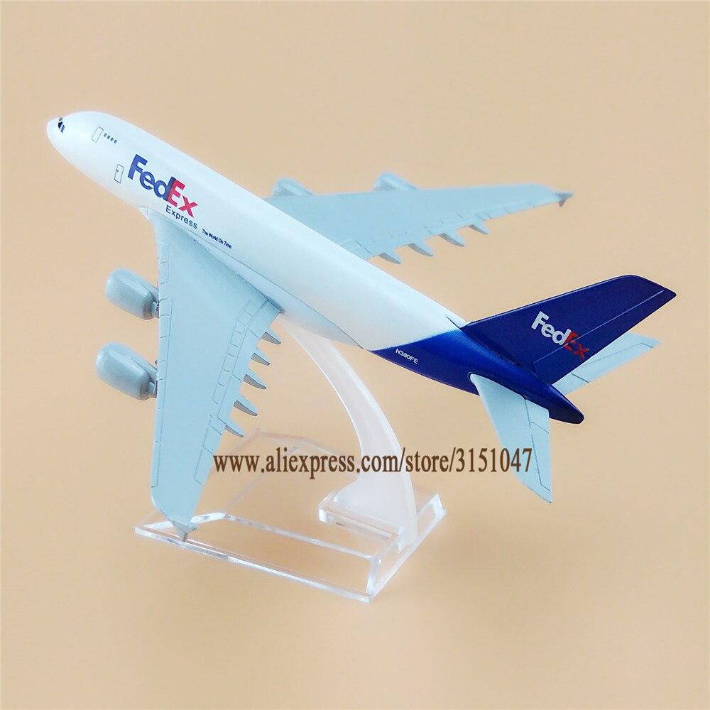 16cm Airplane Model Plane Air FEDEX Airways Airbus 380 A380 Aircraft Model Metal