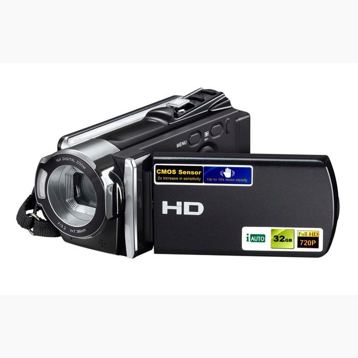 16x Digital Zoom 720P HD Digital Video Camera Camcorder 3''12MP Video  Camera professional DV 5MP CMOS Sensor Free Ship hot sale easy use hd 720p 12m 8x digital zoom video camcorder camera gift for family happy recording 1pc
