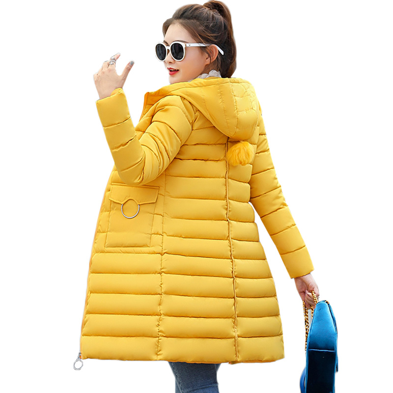 2018 Winter Jacket New Fashion Women   Parkas   Thick Warm Down Cotton Jacket Slim Large size Hooded Outwear Students Women Coats