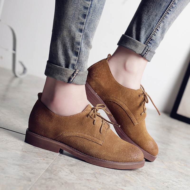Fashion Women Shoes 2016 Genuine Leather Spring New Fashion Casual Lace Up Breathable Shoes For Women Loafers Zapatos Mujer new women shoes fashion genuine leather spring autumn casual shoes lace up loafers shoes heavy bottomed platform white shoes