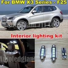 Wljh White CANBUS Купол автомобилей vanity лужу светодиодный для BMW X3 серии-F25 светодиодный Внутреннее освещение комплект-упаковка лампа 2011-2014 20X