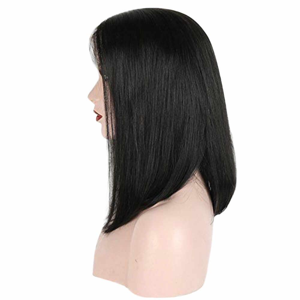 בוב סגנון אדם סיבי שיער פאת שיער ברזילאי לא מעובד פאה קצר שיער פלאפי ראש כיסוי מצנפת perruque קונפקציה