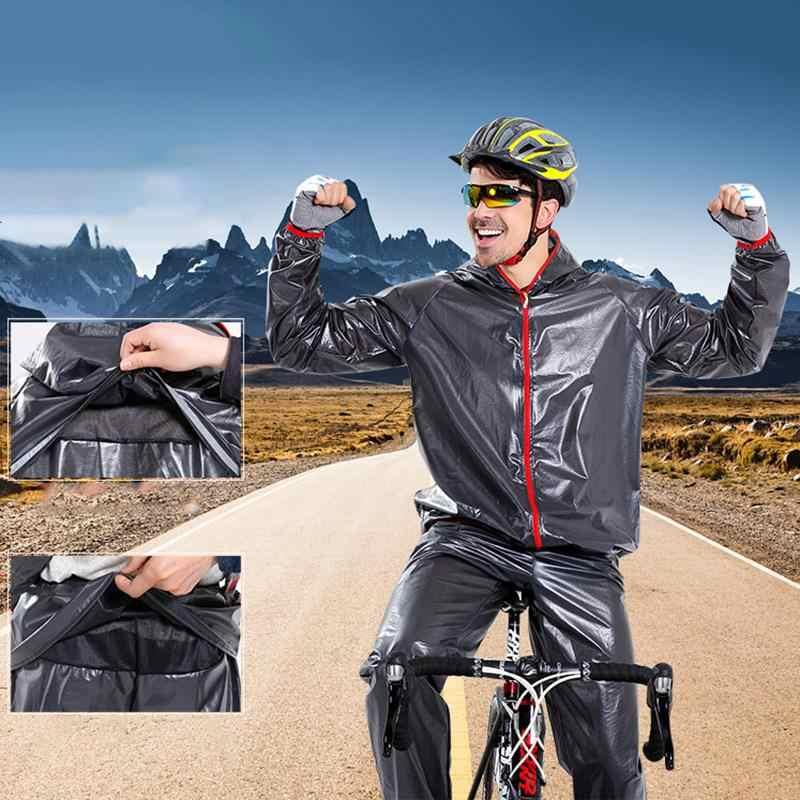 Мотоциклетный дождевик костюм велосипедный спорт бег плащи ультра светильник мотоцикл Дождевик Спорт на открытом воздухе плащ езда на велосипеде для дождливой погоды верхняя одежда для детей