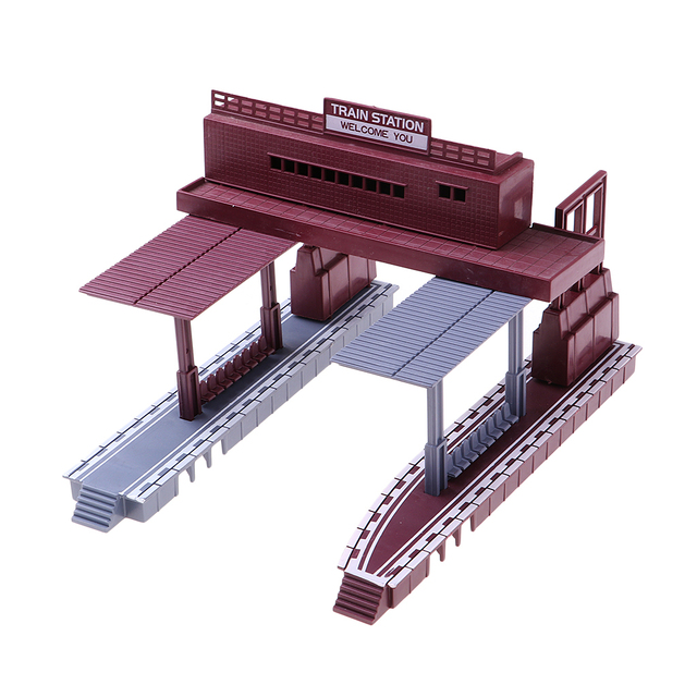 US $8 63 41% OFF|1:87 Scale Train Station Simulation Layout HO Gauge  Building Model Diorama-in Model Building Kits from Toys & Hobbies on