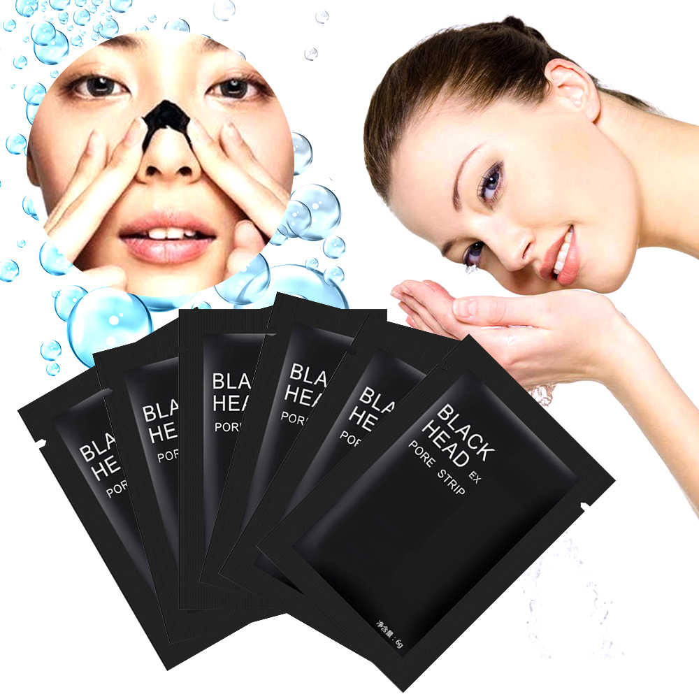 1pc Blackhead Remover Mask Bamboo Charcoal Blackhead Mineral Mud Cleaner Remover Nose Membranes Cleansing Pore Strips TSLM2