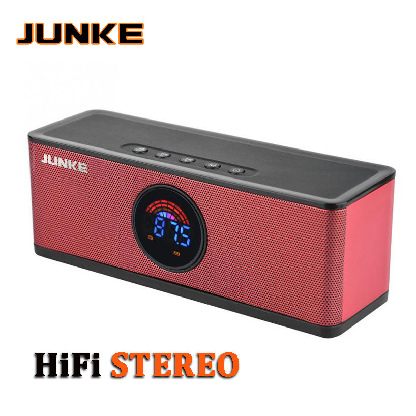 Portable Bluetooth Speaker Super Bass Wireless Stereo Speakers Support TF AUX FM Radio Alarm Clock for