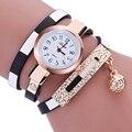 Mance mujer famosa marca de relojes de Moda de lujo 2016 Mujeres Reloj Charm Wrap Around Cuero Artificial de Cuarzo Reloj de pulsera montre femme