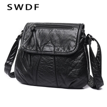 купить SWDF 2019 New Shoulder Bags Women Famous Brands Lady Fashion Messenger Bag Hot Handbag In Women's Totes Casual Tote Purse Sac дешево