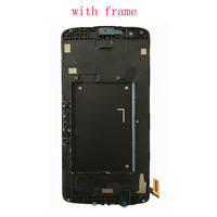 Original For LG K8 LTE K350N K350E K350DS LCD Display with Touch Screen Digitizer Assembly With frame free shipping