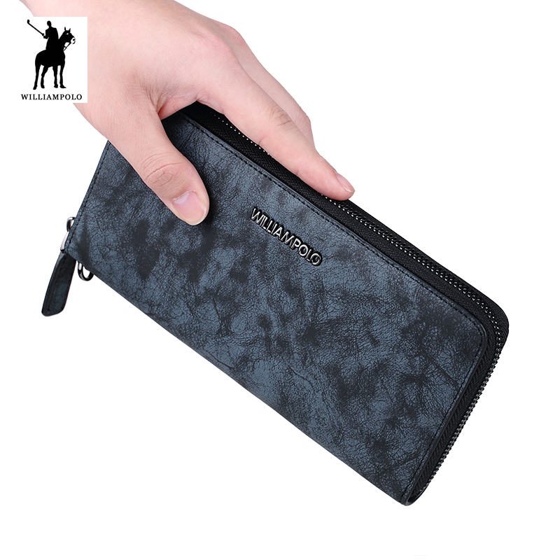 WILLIAMPOLO 2018 New Arrive Hot Camouflage Genuine Leather Men Wallet Credit Business Card Holders Carteira POLO256-in Wallets from Luggage & Bags on ...