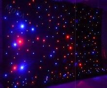 1 adet/grup 4m * 6m (H/L) RGBY karıştırma LED sahne zemin, LED yıldız bez DMX kontrollü LED perde duvar düğün dekorasyon için