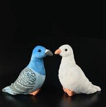 Pombos aves de Simulação de animais de pelúcia brinquedo de pelúcia bonecas crianças brinquedos de presente para crianças presente personalizado para o natal