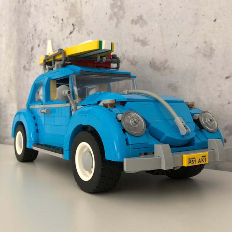21003 Techinc Series 10252 The Volkswagen Beetle City Car Modle Education Building Blocks Brick Birthday Gifts Toy For Kid