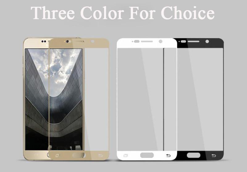 Pełna pokrywa screen protector szkło hartowane dla samsung galaxy s3 s4 s5 note 3 4 5 A3 A5 A7 2016 2017 J5 J7 Prime A8 C5 C7 Pro 7