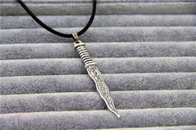 Fashion Jewelry New Snow White Once Upon A Time Rumpelstiltskin Dagger Pendant Necklace For Women(China)