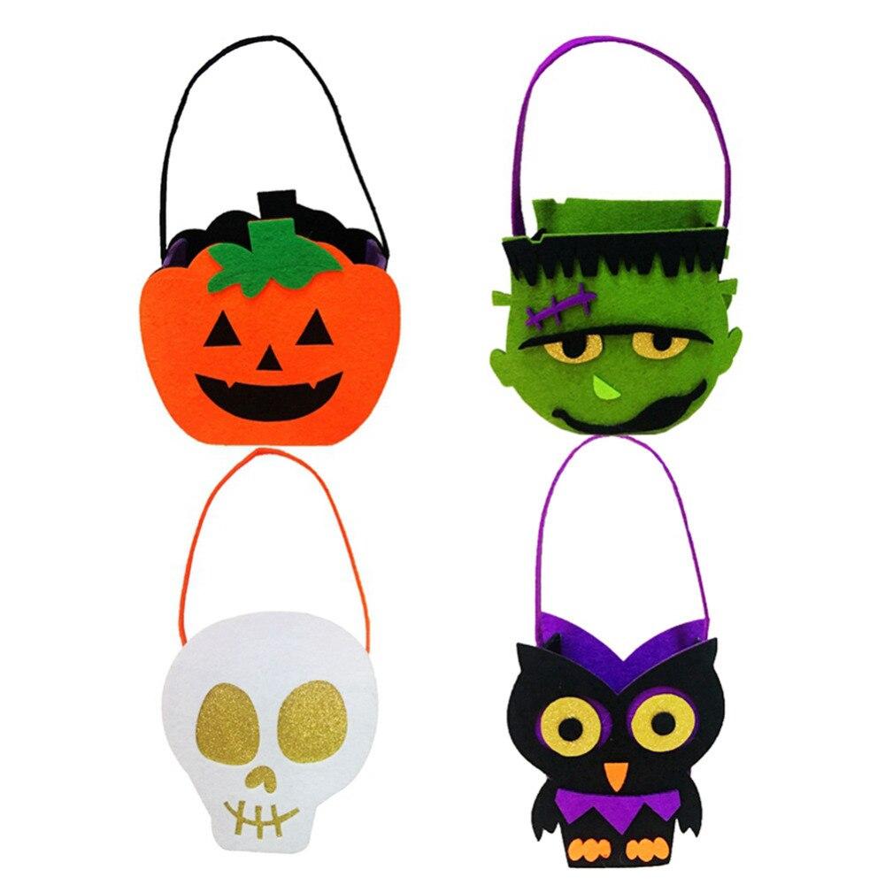 Saco Do Presente Dos Desenhos Animados De Halloween Abobora