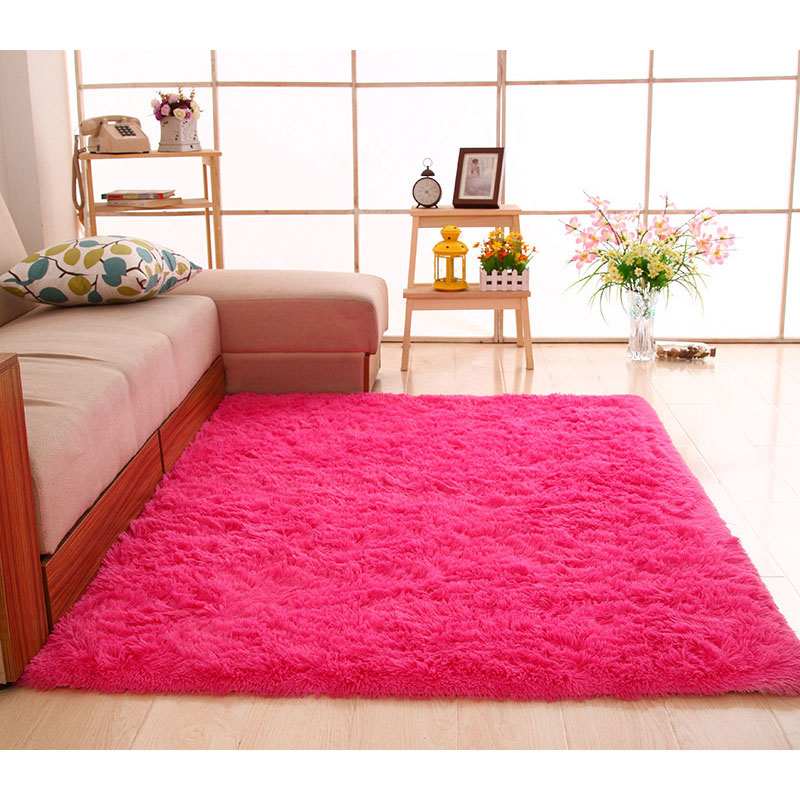 Large Size Fluffy Thickening Rugs Anti Skid Shaggy Area Rug Dining Room  Carpet Floor Mat