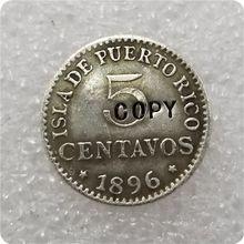 Copia de moneda de PUERTO RICO, 5 centavos, 1896