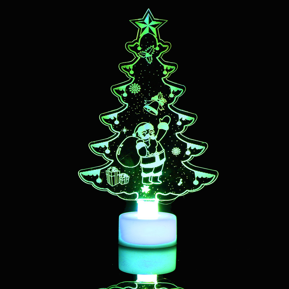 Snowman NEW Multi Color LED Light Clear Acrylic Christmas Tree Mood ...