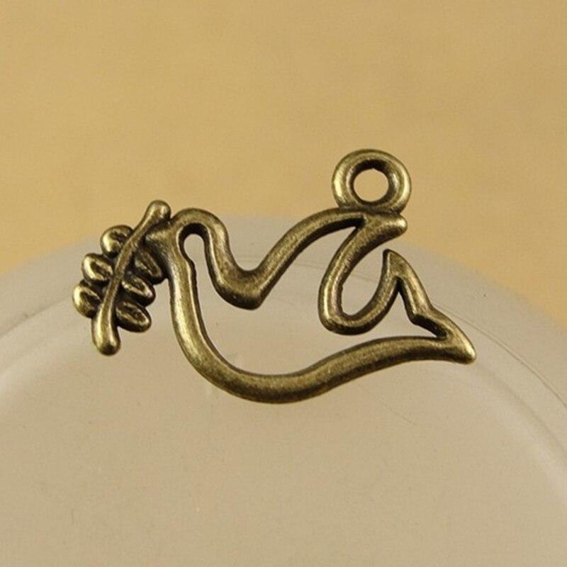 Fashion 40x30mm Antique Brass Silver Tree Branch DIY Charm Pendant Jewelry