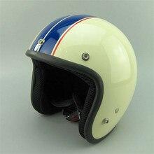 Лидер продаж capacete cascos винтажный мотоциклетный rcycle шлем для мужчин и женщин мотороллер шлемы пилот с открытым лицом vespa шлем para moto