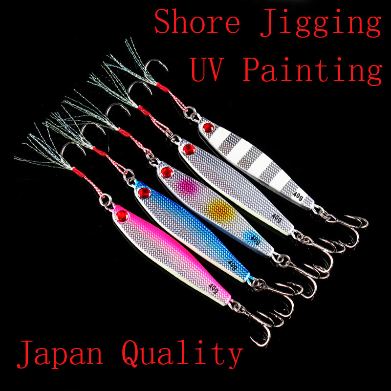 Japan Quality Lurekiller Shore Jigging Lure with Hookds Lead Fish Metal Jig Saltwater Jigs 40g/60g/80g/100g|Fishing Lures|   - AliExpress
