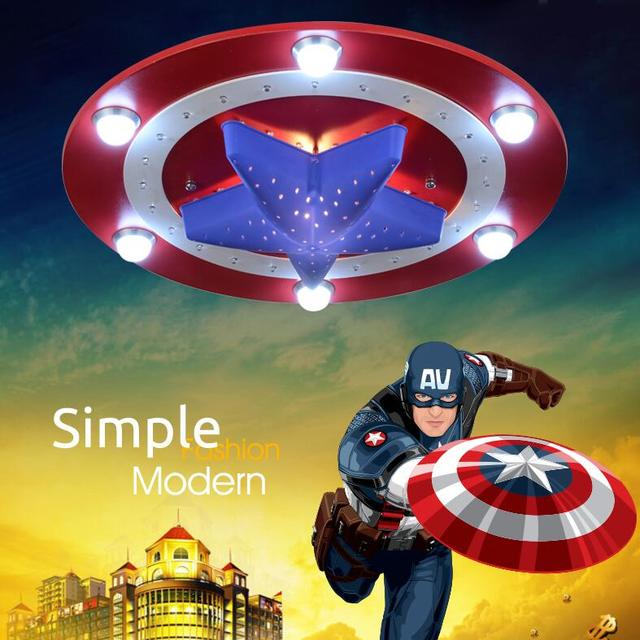 Kidu0027s Room Lighting Captain America Ceiling Lights Child Bedroom Cartoon  6LED*3Wu002624LED*0.3W