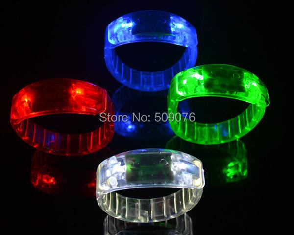 Free shipping 24pcs/lot make LOGO LED Flash Blinking Party Bracelet Bangle glow bracelets for event & party supplies