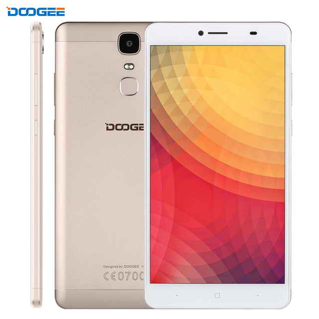 4G DOOGEE Y6 Max 32GB/3GB Fingerprint Identification 6.5 inch 2.5D Android 6.0 MTK6750T 64-Bit Octa core Smartphone Cell Phones