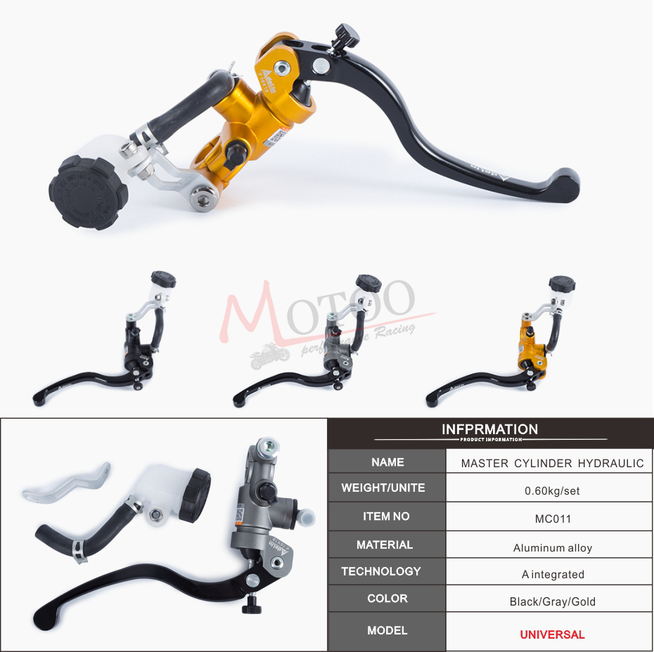 Motoo -Free shipping  Motorcycle 19X18 16X18  Adelin brake clutch pump master cylinder lever handle for Yamaha