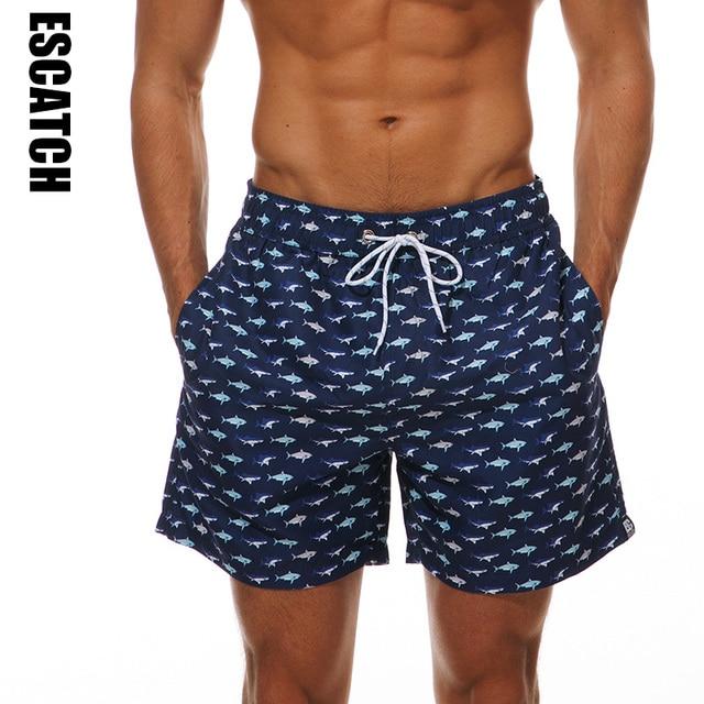20bba13da1 2018 NEW Mens summer shark print swim Sweatpants Board Brazilian shorts Male  Beach swim Shorts Men